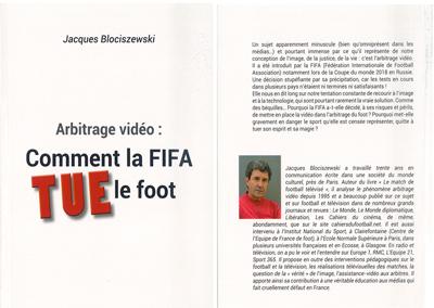 """Parution : """"Arbitrage vidéo, comment la FIFA tue le foot"""""""
